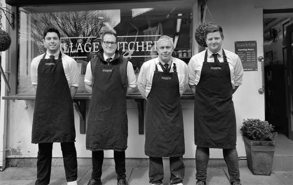 Staff at The Village Butcher in Ipstones